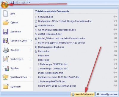 Word 2007 Soll Im Doc Format Speichern Nicht Docx Litschi Edv