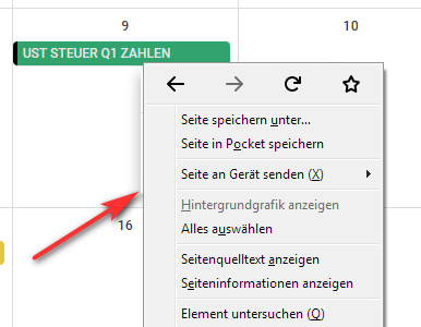 browser kontextmenü